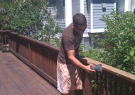 Stains Sanding